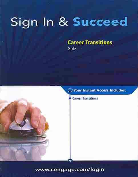 Career Transitions Printed Access Card By Gale (COR)